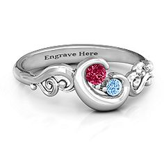"""""""Cradle of Love"""" Mother's Ring"""