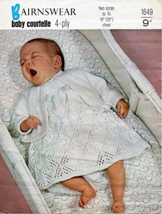 8f48069a6d52 1256 Best Vintage Baby knitting patterns   Baby Knit Patterns images ...