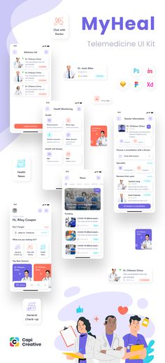 💊 MyHeal is a UI Kit used for building a medical application. It can record the user's health condition. #uiux #ui #ux #uidesign #uikit #design #kit #creative #health #teltmedicine #healthy #healthcare #mobile #app Mobile App Design, Mobile Ui, Medical Examination, App Design Inspiration, Business Requirements, Ui Kit, List, Ios App, Design Process