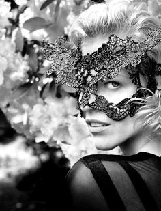 The beauty behind the mask.  How I wish.....