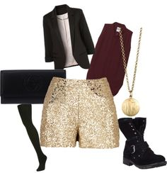 sequin gold shorts