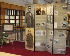 A traveling exhibit on Presidents Lincoln and Grant