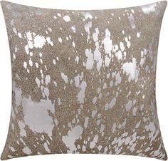 Ghislain Metallic Splash Throw Pillow
