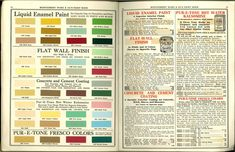 Montgomery Ward paints colours 1915