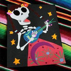 Día de los Muertos Paper Collage For Kids
