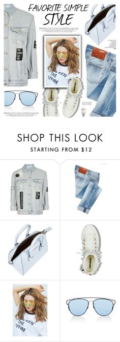 """""""Favorite Simple Style: Denim on Denim"""" by defivirda ❤ liked on Polyvore featuring Topshop, ACHT, Givenchy, StyleNanda, Christian Dior and DANNIJO"""