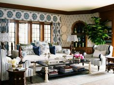 Martyn Lawrence Bullard Design      :::     Greystone Manor    :::         Living Room