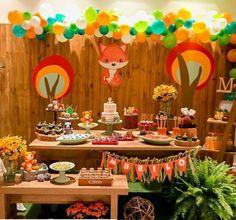 Wild One Birthday Party, 1st Boy Birthday, First Birthday Parties, First Birthdays, Fox Party, Wild Ones, Lucca, Babyshower, Woodland