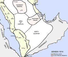 The Arabian Peninsula in 1914