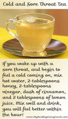 Cold and Sore Throat Tea