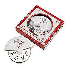 Kate Aspen® Slice of Love Pizza Cutter in Miniature Pizza Box