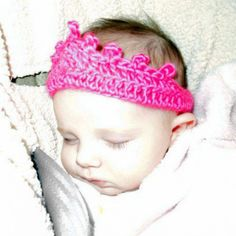 Baby Tiara in Hot Pink Photo Prop Headband Crown Heart