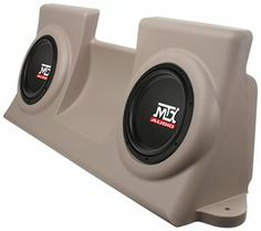 MTX Audio Vehicle Specific Custom Subwoofer Enclosure for 1997-2003 Ford F-150 Regular Cabs. Available in Tan or Charcoal. Made in USA.