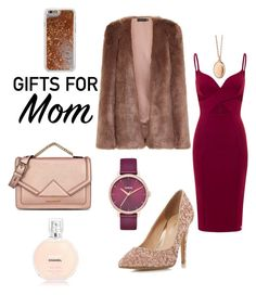 """for Mom"" by kalaidadia ❤ liked on Polyvore featuring Lavish Alice, Aloura London, Head Over Heels by Dune, Karl Lagerfeld, Nixon, Monica Rich Kosann and Agent 18"