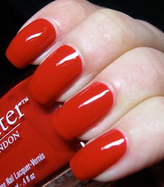 Polished Casual: Red Obsession: Butter London Pillar Box Red (and Comparisons)