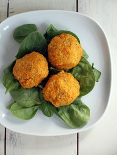 Sweet Potato Quinoa Balls made from Slow Cooker Sweet Potatoes | dashofeast.com