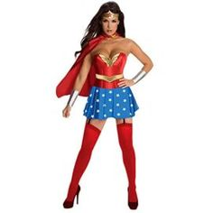 Wonder Woman 4 Pieces Adult Womens Costume for Halloween and Cosplay Party S-XL I want to be wonder woman for halloween she is incredible! #DCcomics #wonderwoman #halloween #halloween2017 #superhero