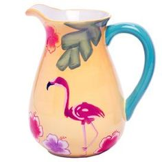 Flamenco Pitcher at Joss & Main Teal Dinnerware, Wine Goblets, Table Accessories, Decorative Storage, Tropical Decor, Joss And Main, Signature Style, Color Splash, Color Schemes