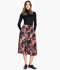 Textured-weave Skirt $34.95 COLOR: Dusty pink Black Dusty pink SIZE: Please select size