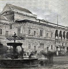 Fotos antiguas de Sevilla: Plaza de San Francisco y Ayuntamiento. 1833-1868 Reinado de Isabel II | GÉNOVA Café-Bar | Tapas · Restaurante · Comer en Centro SEVILLA