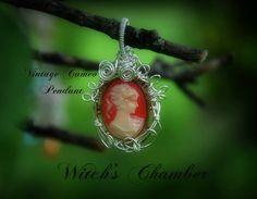 Vintage Cameo Wire Wrap repurposed by WitchsChamber on Etsy