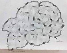 Filet Crochet, Crochet Patterns Filet, Crochet Doily Rug, Crochet Tablecloth Pattern, Crochet Diagram, Crochet Chart, Sewing Patterns Free, Crochet Designs, Crochet Flowers
