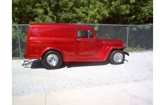 FEATURED: 1949 Willys Sedan Delivery Chopped All-Steel for sale at Hotrodhotline.com