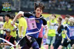 Jungkook at the Idol Star Athletics Championship