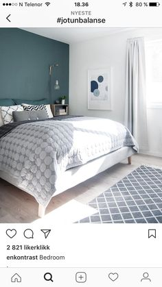 Jorun balanse Furniture, Wall Paint Colors, Hay Design, Modern Deco, Bedroom Design, Wall Colors, Home Decor, Bed, Bedroom