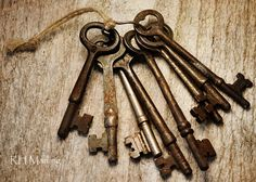 Keys like these were used to lock our house when I was growing up~How safe was that??