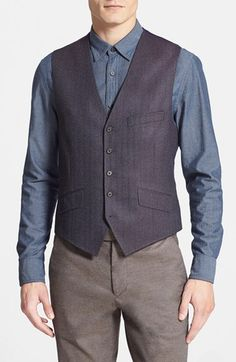 Men's Ted Baker London 'Jaguar' Wool Vest