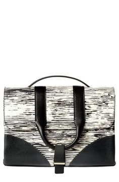 Jason Wu 'Hanne' Printed Calfskin Leather Messenger Bag available at #Nordstrom