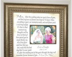 Wedding Quotes :Celebrating the Special Moments in Your LIfe by PhotoFrameOriginals Thank You Gift For Parents, Wedding Thank You Gifts, Wedding Gifts For Parents, Mother Of The Groom Gifts, Mother In Law Gifts, Custom Photo Frames, Personalized Picture Frames, Wedding Picture Frames, Wedding Frames