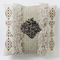 morocaan Sequin Shag Pillow Cover #westelm