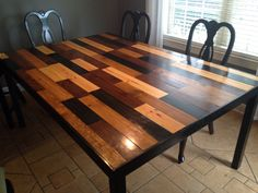 Handmade Kitchen Table Scandal Inspired Stained 1x4 In 4 Colors Used 12 Ft