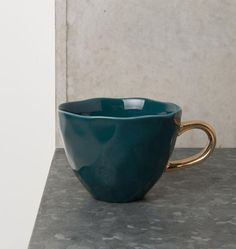 Good Morning Cup Blue/Green Porcelain
