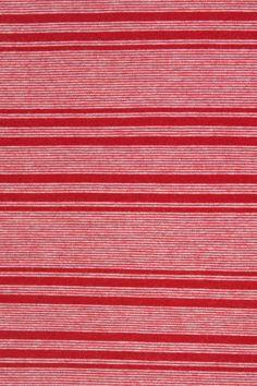 Cardinal Red Striped Rayon Lycra Jersey   Indiesew.com