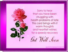 173 best get well soon images on pinterest get well get well sweet get well sayings get well soon greetings cards picture has soft pink roses m4hsunfo