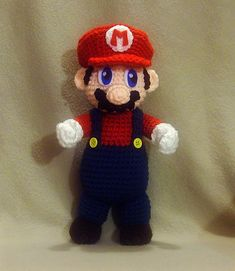 Ravelry: free Mario Plushie pattern by Linda Potts-this is awesome!!!  I will be making one for both my boys :)