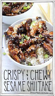 Crispy & Chewy Sesame Shiitake