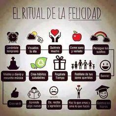 El ritual de la felicidad, ¿te animas? #Frases #Vida #Positiva #MundoVerde