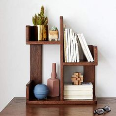 Solid Wood Bookshelf, Simple Bookshelf, Wood Bookshelves, Bookshelf Desk, Shoe Racks, Desktop Storage, Storage Rack, Wood Boxes, New Room