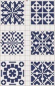 Gráficos de almofadas de crochê filet