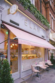 cafe restaurant The Londoner Blooming Lovely Caf - Cake Shop Design, Café Design, Coffee Shop Design, Bakery Design, Store Design, Shop Front Design, Cafe Restaurant, Restaurant Am Wasser, Bakery Cafe