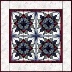Kaleidoscope II -paper pieced pattern