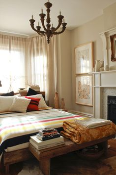Hudson Bay blanket in neutral room