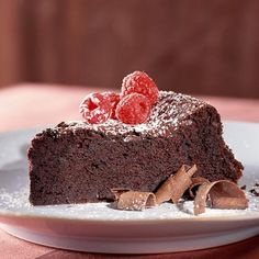 Dark-Chocolate Soufflé Cake by cookinglight  #Cake #Chocolate_Souffle_Cake #cookinglight