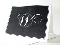 Monogram Note Card Custom Personalized by essentialimages on Etsy, $16.50