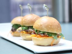 Get this delicious and easy-to-follow Duck Confit Sliders, Banh Mi Style recipe at Food Network.