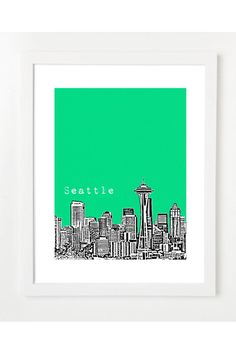 $20 Seattle Skyline Posters by Birdave 2 for 30$ on Jack Threads - Join Today: http://www.jackthreads.com/invite/tobytoby7